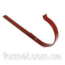 Держатель желоба металл прямой коричневый