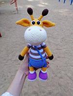Вязаная игрушка Жираф Ральф, ручная работа, подарок ребенку, амигуруми