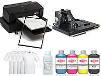 Комплект оборудования для прямой печати на белой ткани. Текстильный принтер.