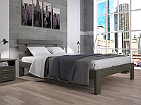Кровать двуспальная ТИС Домино 1 сосна лак