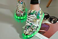 Светящиеся кроссовки Superstar style