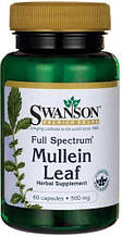 Коровяк, Swanson Mullein Leaf 500 мг 60 капсул