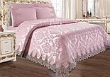 """Ткань жаккард шенилл пике """"Дамаск"""", цвет розовой пудры (№2374), фото 7"""