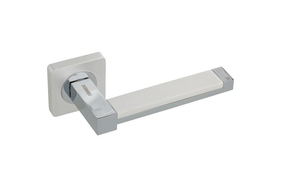Дверні ручки Gavroche PLATINUM PW/CP (білий перлинний/хром)