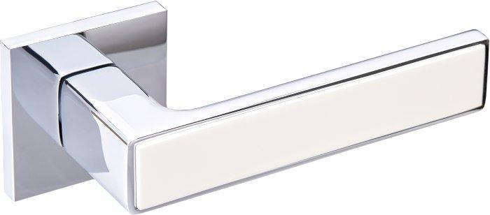 Ручки дверные Gavroche NIKEL CP/W (белый/полированный хром)