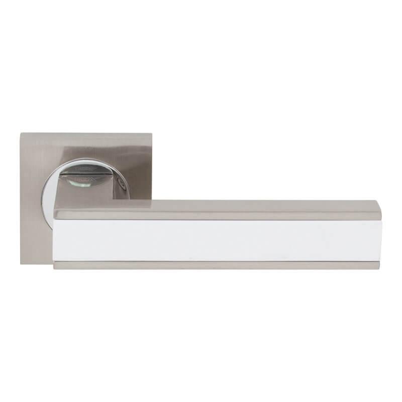 Дверні ручки RDA Bormio матовий нікель/білий