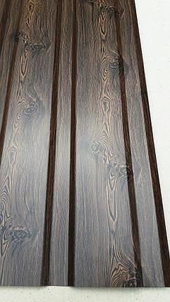 Профнастил  для забора с рисунком деревоВЕНГЕ, размер листа 2мХ1,16м, фото 2
