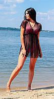 Женская пляжная туника сетка