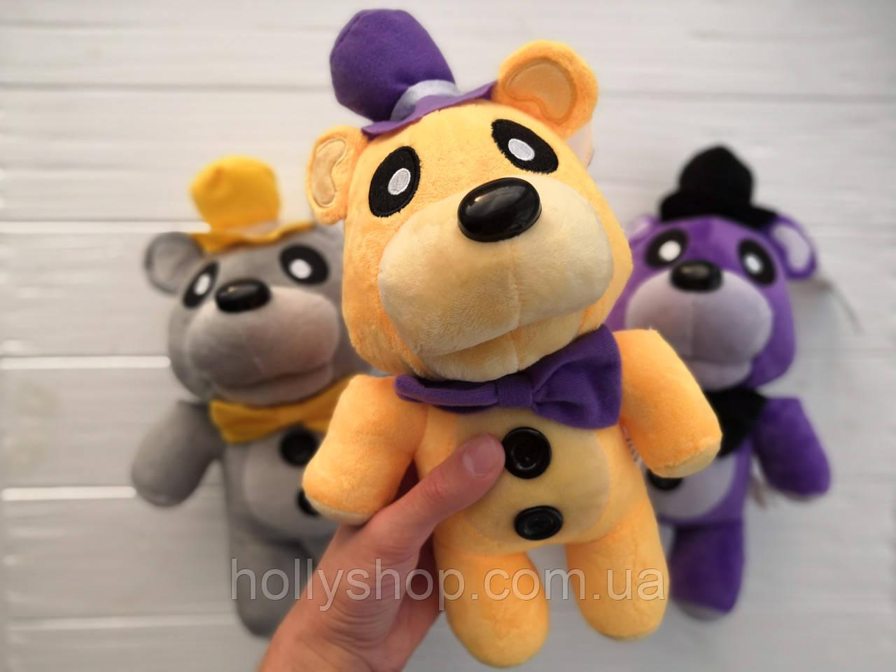 Мягкая игрушка Пять ночей с Фредди, FNaF - Мишка Фредди 30см (Golden Freddy, золотой)