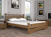 Кровать двуспальная ТИС Атлант 1 сосна орех
