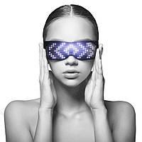 Светодиодные LED очки PartyGlasses / Очки для вечеринки / С приложением, Bluetooth, фото 1