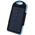 Внешний акумулятор Power bank 45000 mAhвзащищенномкорпусе на солнечной батарее c LED фонарем сине-чёрный, фото 2