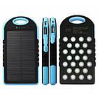 Внешний акумулятор Power bank 45000 mAhвзащищенномкорпусе на солнечной батарее c LED фонарем сине-чёрный, фото 6