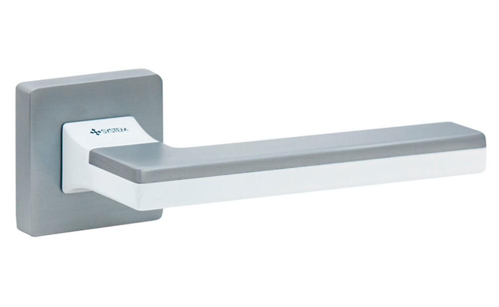 Ручка System Larissa CBM-AL7/CBM (матовий хром/ білий глянець)
