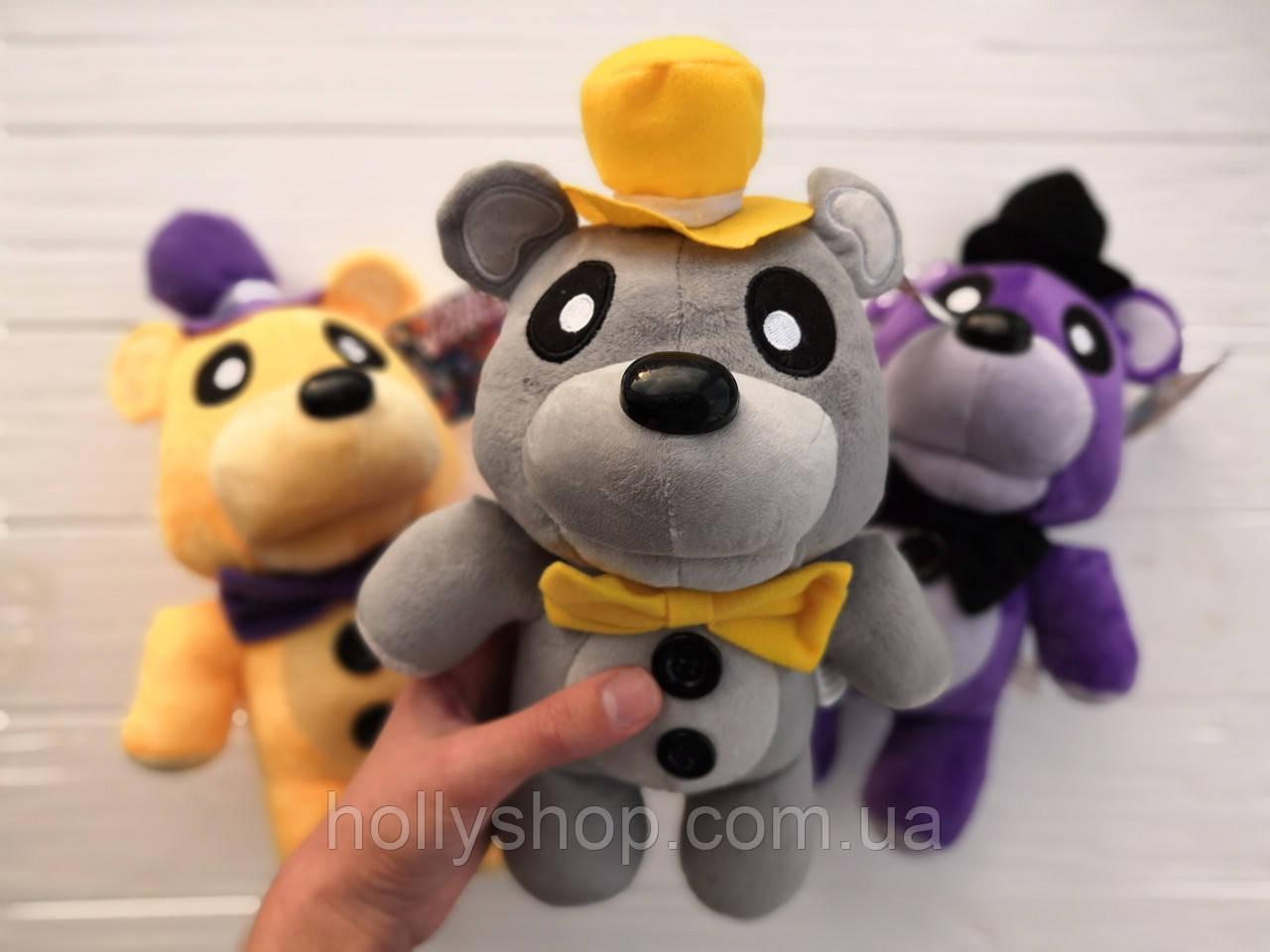 Мягкая игрушка Пять ночей с Фредди, FNaF - Мишка Фредди 30см (серый)