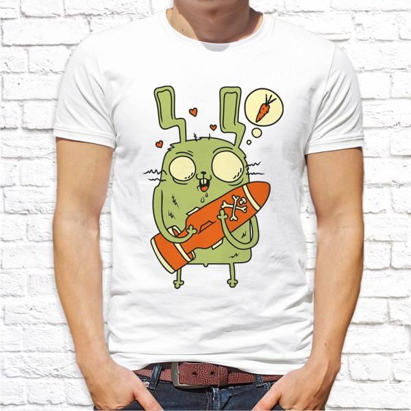 Мужская футболка с принтом Заяц Push IT