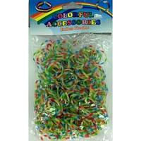 Резинки для плетения браслетов 200 штук, многоцветные