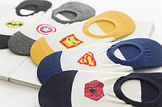 Комплект (5 пар) коротких носков с силиконовым фиксатором на пятке. Набор носков Размер 36-41, фото 2