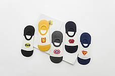 Комплект (5 пар) коротких носков с силиконовым фиксатором на пятке. Набор носков Размер 36-41, фото 3