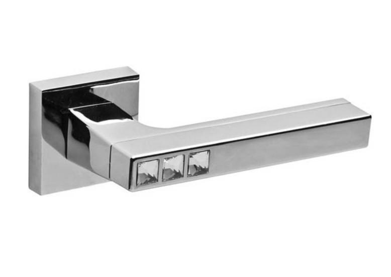 Ручки дверні Fuaro CRYSTAL матовий нікель/хром