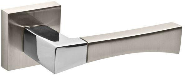 Ручки дверні Fuaro DELTA матовий нікель/хром