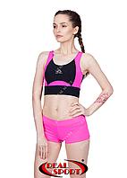 Спортивные шорты для фитнеса RSH 50, розовые (бифлекс, р-р S-L)