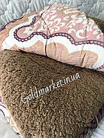 Одеяло зимнее Флис Мех двухстороннее Евро размер 200*215см. 815 грн
