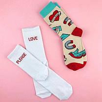 """Мужские носки с надписью """"Love Please"""". ТМ SOX, фото 2"""