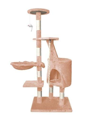 Дерево домик когтеточка когте точка драпак дряпка для кота кошки118 беж