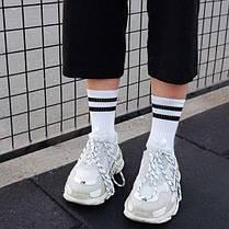 Белые спортивные носки с черными полосками SOX, фото 3