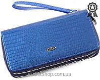 Женский лаковый кошелек клатч на два блока Kivi