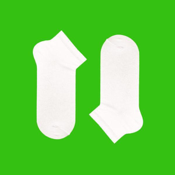 Короткие однотонные белые носки