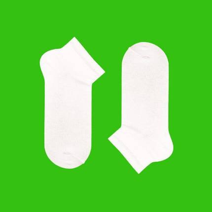 Короткие однотонные белые носки, фото 2