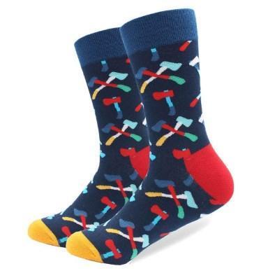 """Темно-синие мужские носки """"Лесоруб"""" от Friendly Socks"""