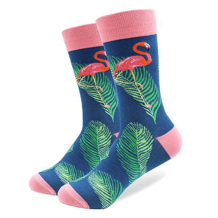 "Стильные мужские носки ""Розовый фламинго"" от Friendly Socks, фото 2"
