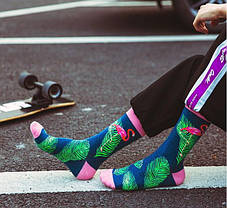 "Стильные мужские носки ""Розовый фламинго"" от Friendly Socks, фото 3"
