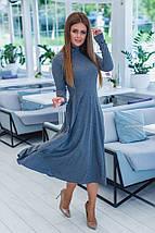 """Приталенное трикотажное миди-платье """"Woods"""" с длинным рукавом, фото 2"""