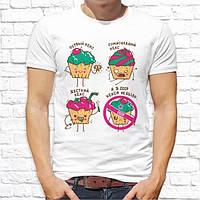 Мужская футболка с принтом Кексы Push IT