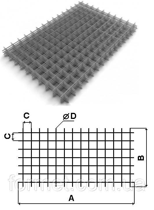 Сетка кладочная 100*3,0 (1*2м) некондиция (количество ограничено)