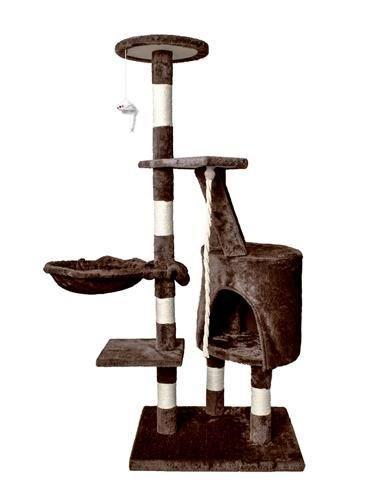 Дерево домик когтеточка когте точка драпак дряпка для кота кошки118 коричневий 7938