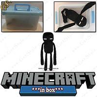 Игрушка Cтранник Края из Minecraft  Enderman в пластиковом боксе, фото 1