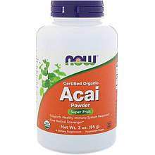 """Органический порошок асаи NOW Foods """"Certified Organic Acai Powder"""" (85 г)"""
