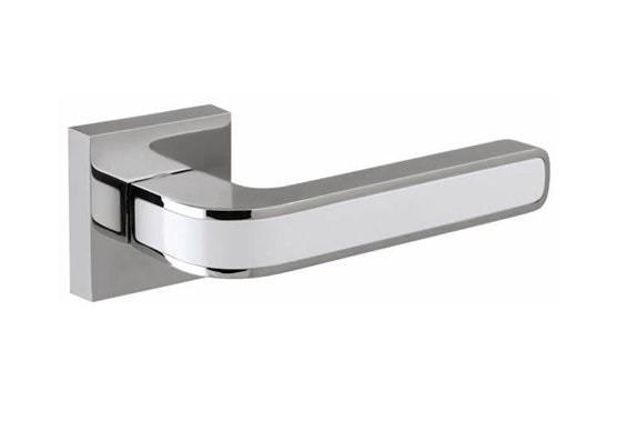 Ручки дверные Fuaro NEO DM SN/CP-3 матовый никель/хром