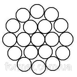 Трос стальной оцинкованный  1,5 мм (1*19)