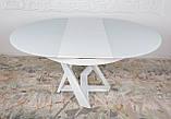 Обеденный стол EDINBURH 110/155 см белый матовое стекло Nicolas (бесплатная адресная доставка), фото 5