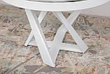 Обеденный стол EDINBURH 110/155 см белый матовое стекло Nicolas (бесплатная адресная доставка), фото 7