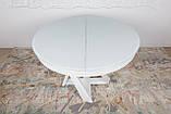Обеденный стол EDINBURH 110/155 см белый матовое стекло Nicolas (бесплатная адресная доставка), фото 8