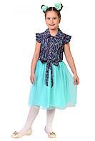 Летнее детское платье в размере 122,128,134,140
