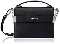 Женская оригинальная черная сумочка  из сафьяновой кожи  Calvin Klein, фото 1