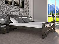 Кровать двуспальная ТИС Атлант 3 бук лак